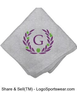 Custom Sweatshirt Blanket Design Zoom